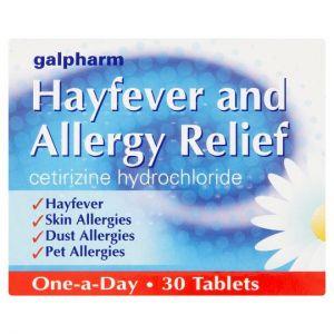 Galpharm Hayfever Tablets Cetirizine 30 Pack