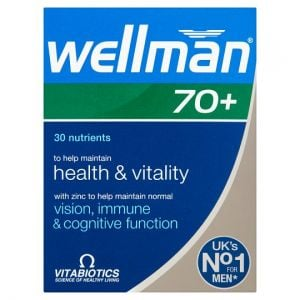 Vitabiotics Wellman 70+ Tablets X30