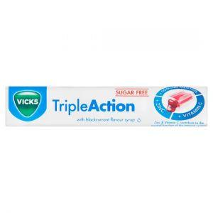 Vicks Triple Action Blackcurrant Throat Sweet 42g