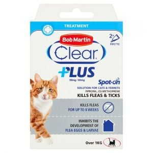 Bob Martin Clear Plus Cat Flea & Tick 2 Tube