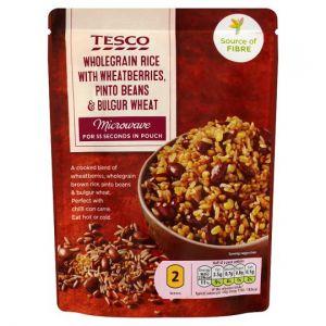 Tesco Microwave Pinto Bulgar Wholegrain Rice 250g