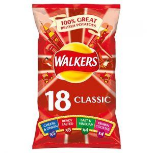Walkers Classic Variety Crisps 18 X 25g