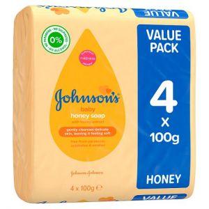 Johnson's Baby Honey Soap 4X100g