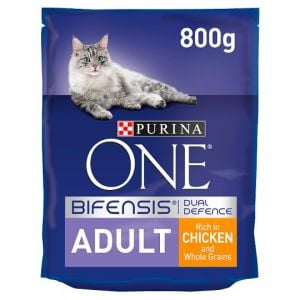 Purina One Adult Dry Cat Food Chicken & Wholegrain 800g