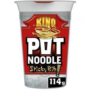 Pot Noodle King Sticky Rib Snack 114g
