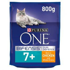Purina One Cat Senior 7+ Chicken & Whole Grains 800g