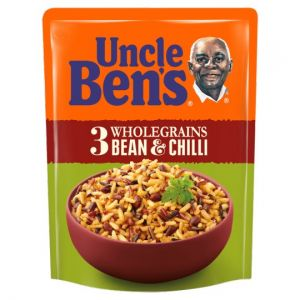 Uncle Bens Microwave 3 Wholegrain Bean and Chilli Rice 220g