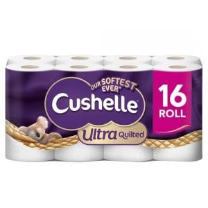 Cushelle Ultra Quilted 3 Ply 16 Roll Family Pack