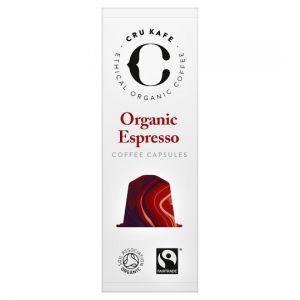 Cru Kafe Organic Espresso Blend 10 Capsules 52g