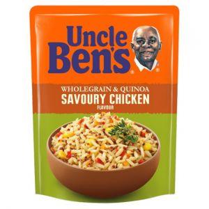Uncle Bens Microwave Wholegrain Quinoa Savoury Chicken Rice 220g