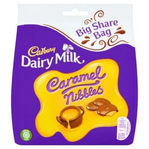 Cadbury Caramel Nibbles Bag 242g