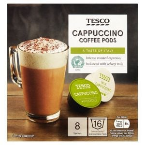 Tesco Cappuccino Dolce Gusto Pods X8 200g