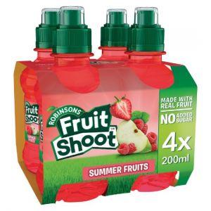 Fruit Shoot Summer Fruits No Added Sugar 4 X 200ml