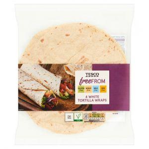 Tesco Free From 4 White Tortilla Wraps