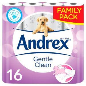Andrex 16 Rolls Toilet Tissue Gentle Clean