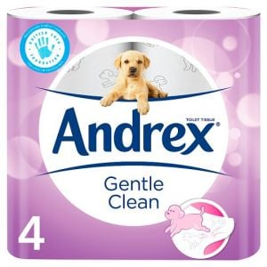 Andrex 4 Roll Gentle Clean 2 Ply Toilet Tissue
