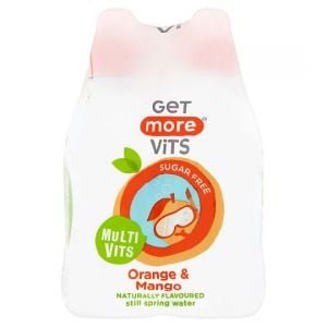 Get More Vitamins Orange & Mango Spring Water 4X330ml