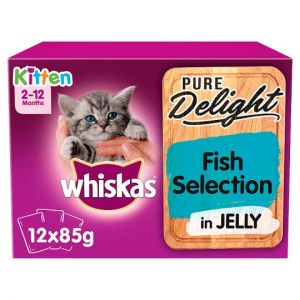 Whiskas 2-12 Month Kitten Fish Selection 12X85g