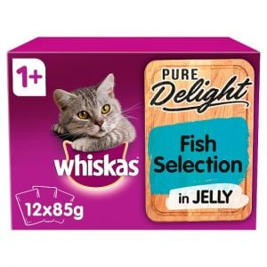 Whiskas 1+ Pure Delight Fish Selection 12X85g