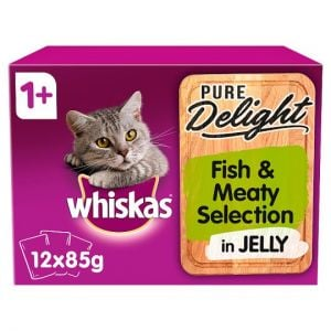 Whiskas 1+ Pure Delight Fish & Meat Selection 12X85g