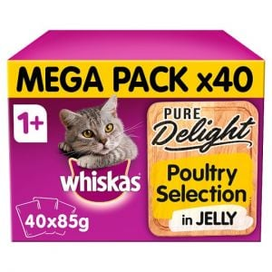 Whiskas 1+ Pure Delight Poultry Selection 40X85g