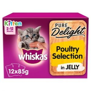 Whiskas 2-12 Month Kitten Poultry Selection 12X85g