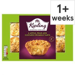 Mr Kipling 6Pack Apple Pear& Custard Crumble Tarts