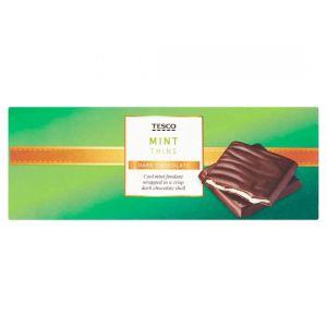 Tesco Dark Chocolate Mint Thins Carton 200g