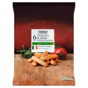 Tesco Tomato & Herb Mini Breadsticks 120g (6X20g)