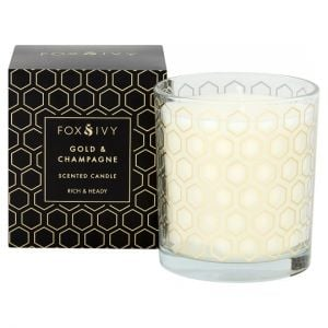 Fox & Ivy Scented Candle Gold & Champagne