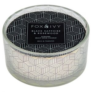 Fox & Ivy 2 Wick Candle Sapphire & Rosewood
