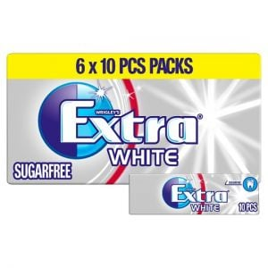 Wrigley's Extra White 6X10 Pieces 84g
