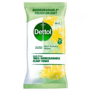 Dettol Multi Purpose Biodegradable 50 Wipes