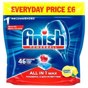 Finish All In 1 Max Lemon 46 Dishwasher Tab 736g