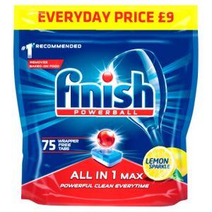 Finish All In 1 Max Lemon 75 Dishwasher Tab 1200g