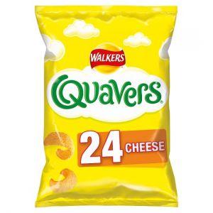 Walkers Quavers Cheese Snacks 24 X 16g