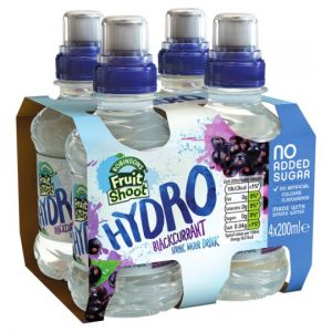 Fruit Shoot Hydro Blackcurrant Spring Water No Added Sugar 4 X 200ml