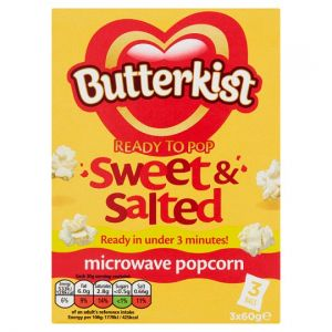 Butterkist Microwave Popcorn Sweet & Salted 3X60g