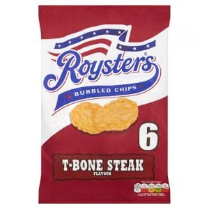 Roysters Steak Flavoured Bubbled Chips 21gx6