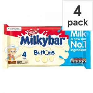 Milkybar White Chocolate Buttons 4 Pack 80g