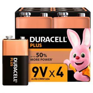 Duracell Plus 9V 4 Pack