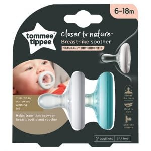 Tommee Tippee Breast-Like 6-18 Month Soother 2 Pack