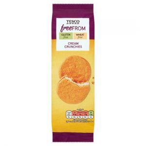 Tesco Free From Cream Crunchies 180g