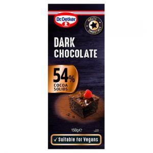 Dr Oetker Fine Cooks Dark Chocolate 54% 150g