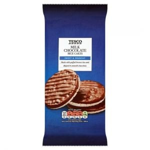 Tesco Rice Cakes Milk Chocolate 105g