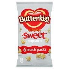 Butterkist Cinema Sweet Popcorn 6 X 15g