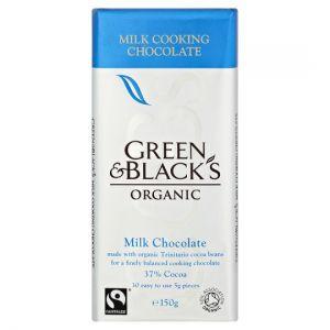 Green and Black Milk Cooks Bar 150g