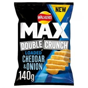 Walkers Max Double Crunch Cheddar Onion 140g