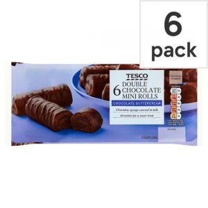 Tesco Milk Chocolate Mini Rolls 6 Pack