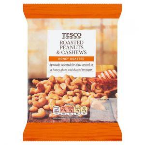 Tesco Honey Roast Peanuts & Cashews 200g